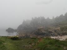 Ma plage perso dans la brume